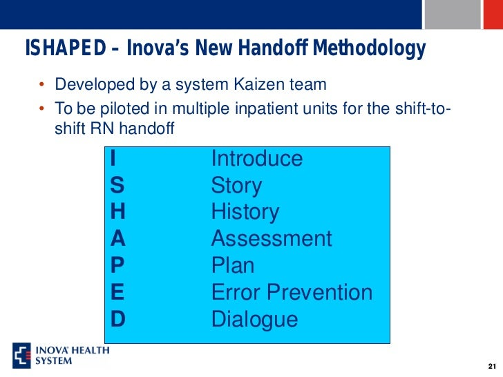 a new approach to handoff Perceptions of physician bedside handoff with nurse and family involvement a new approach to patient care and teaching hospital pediatrics jan 2012, 2.