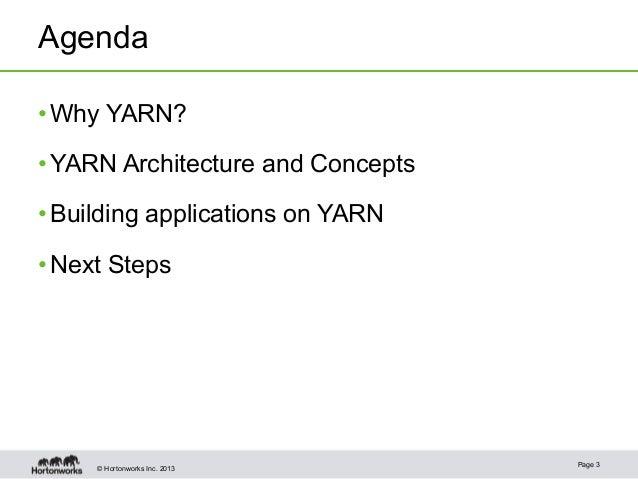 Apache Hadoop YARN - Enabling Next Generation Data Applications Slide 3