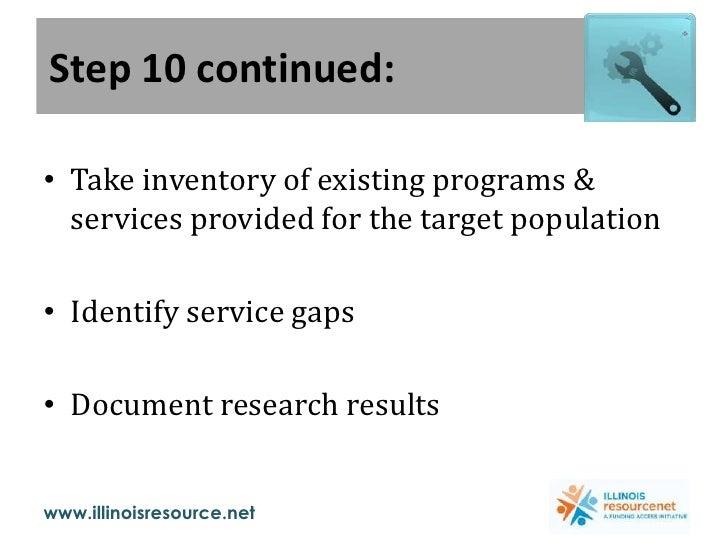 Step 7: Identify Proposal Development Supporters<br /><ul><li>Funding Agency