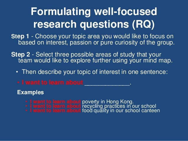 Developing a Research Question Slide 2