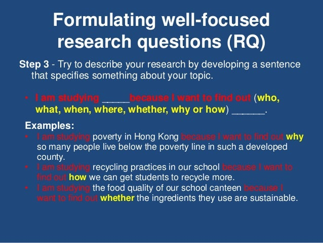 Developing a Research Question Slide 3