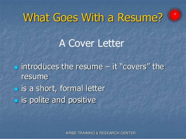 developing a resume presentation arise roby