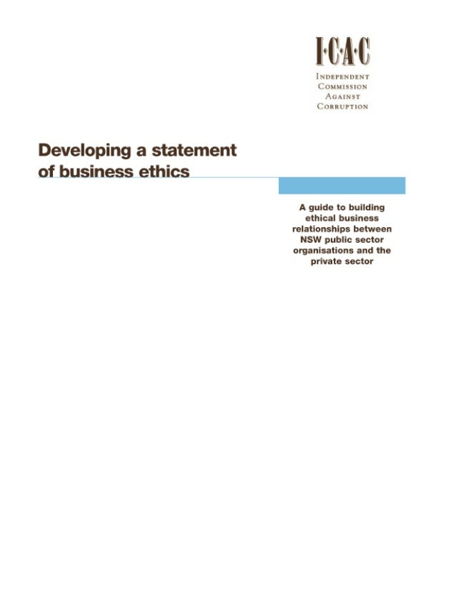 Developing a statement_of_business_ethics_