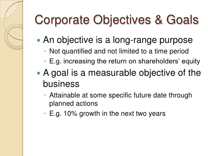 Developing a strategic business plan for Company goals and objectives template