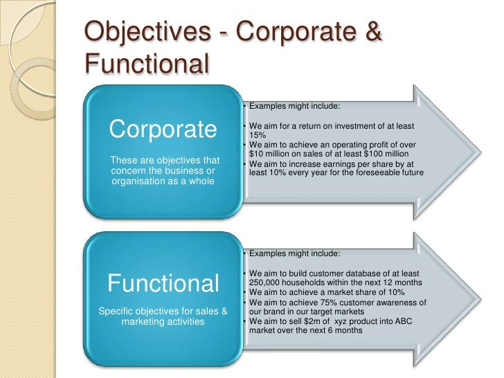 corporate business plan samples