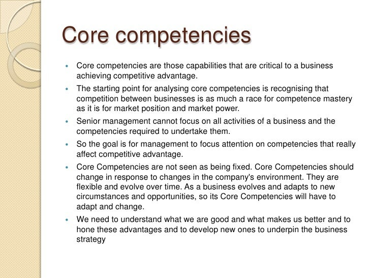 Competencies in the Hospitality Industry