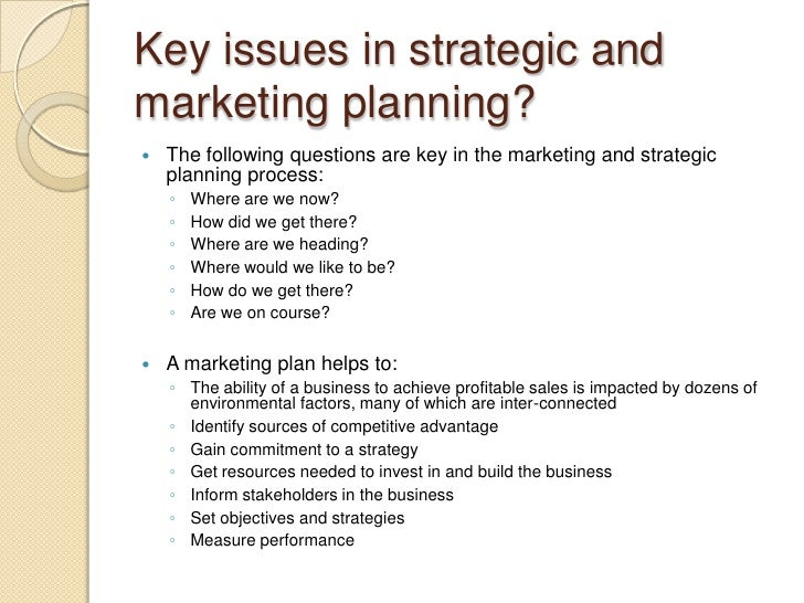 STRATEGIC PLANNING FAILURE