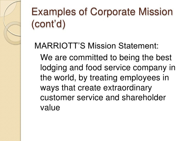 service provider mission statement examples