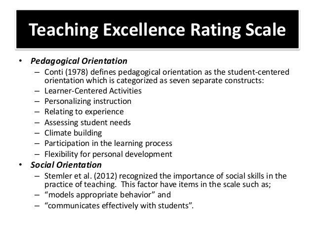 Developing a teacher performance appraisal