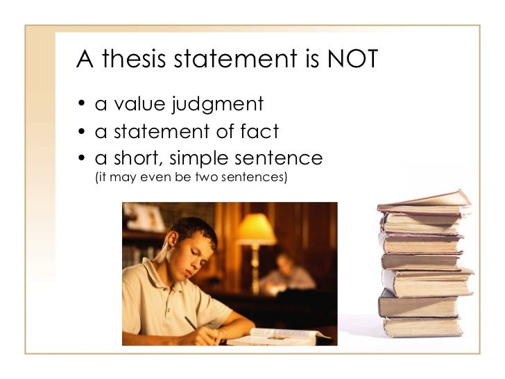 Developing a thesis sentence