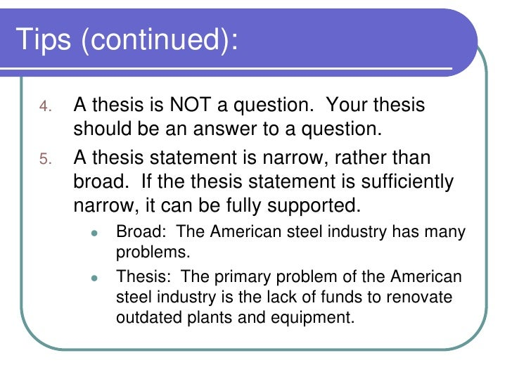 developing purpose and thesis statements Purpose of a thesis statement before discussing the different types of thesis statements developing a thesis purdue owl.