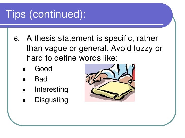 developing a good thesis Developing a research thesis developing a good working thesis, just like developing a good research question (researchable neither too broad nor too narrow).