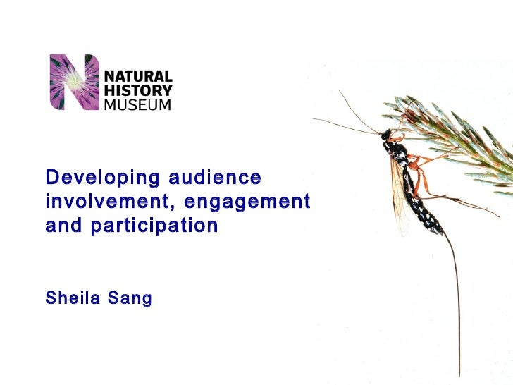 Developing audience involvement, engagement and participation Sheila Sang