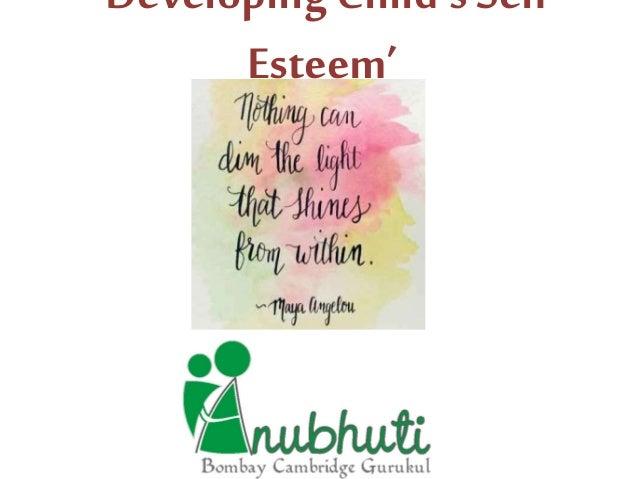 'Developing Child's Self Esteem'