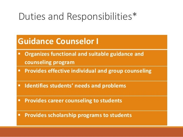 High School Guidance Counselor Job Description Image Gallery  Hcpr