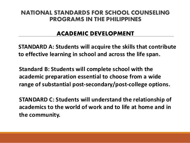 standards for guidance counseling progr Guidance and counseling standard program evaluation  name of program or services: guidance and counseling  msip and comprehensive guidance standards.