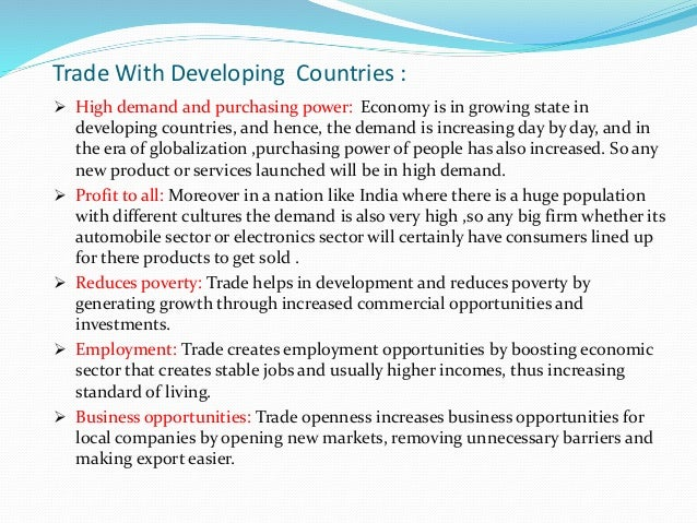 Developing Countries Need Trade, Not Aid