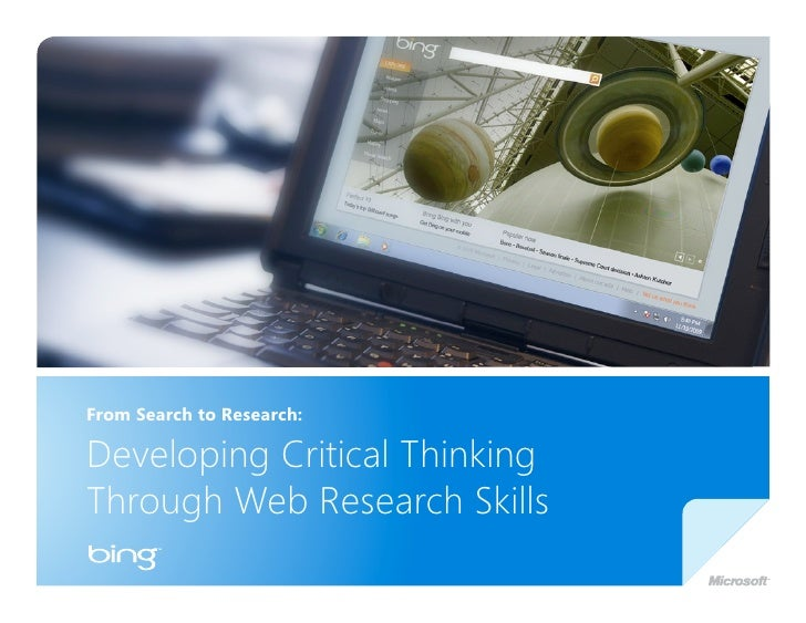 Developing Critical Thinking and Web Research Skills