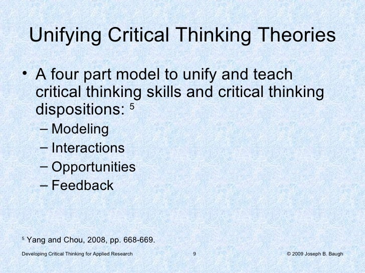 applied critical and analytical thinking Why teach critical thinking oliver & utermohlen (1995) see students as too often being passive receptors of information through technology, the.
