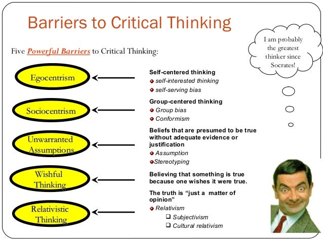 Critical thinking benefits and barriers