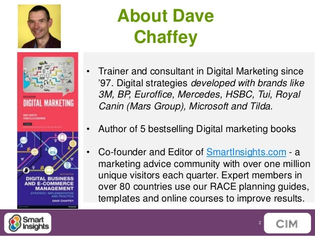 internet marketing dave chaffey In our fourth talk at the nottingham digital summit, co-founder and content director of smart insights, and co-author of digital marketing excellence dave chaffey has taken to the stage to talk about the ways in which you can improve your digital marketing skills so that you don't lose your edge.