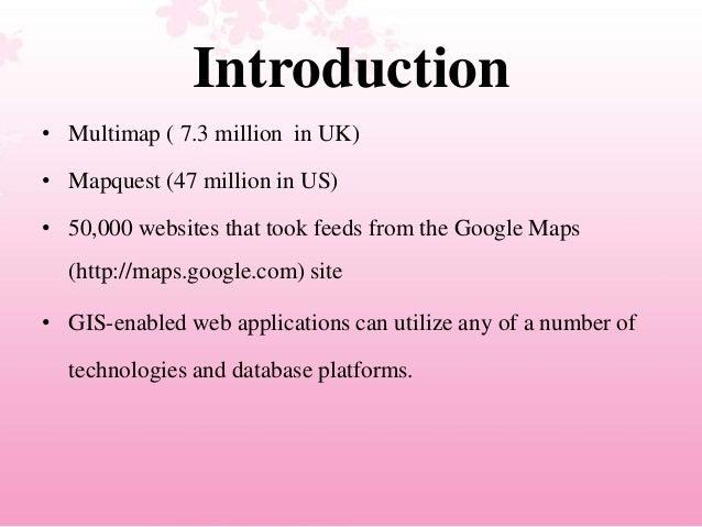 Developing Efficient Web-based GIS Applications Slide 2