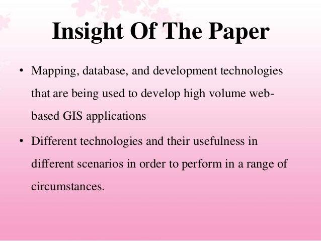 Developing Efficient Web-based GIS Applications Slide 3