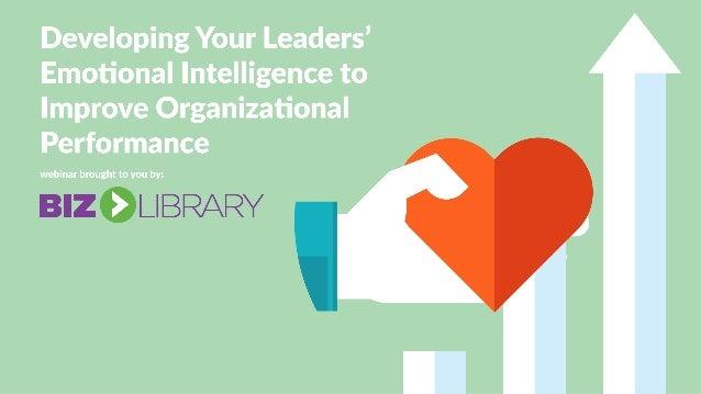 emotional intelligence and organizational performance