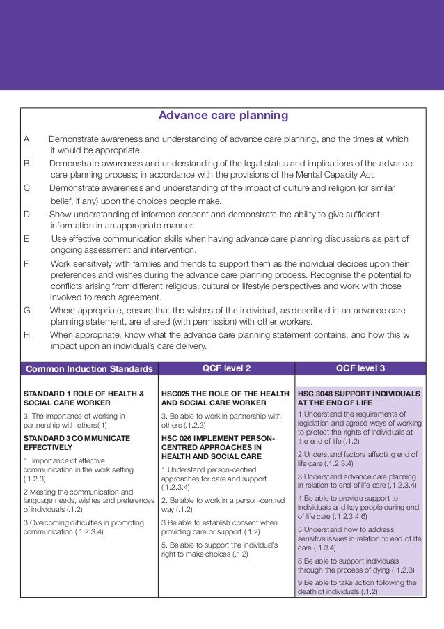 hsc036 promote person centred approac Values learning materials unit: hsc 036 title: promote person centred approaches in health and social care brief description: having the right values is really important in social care practice.