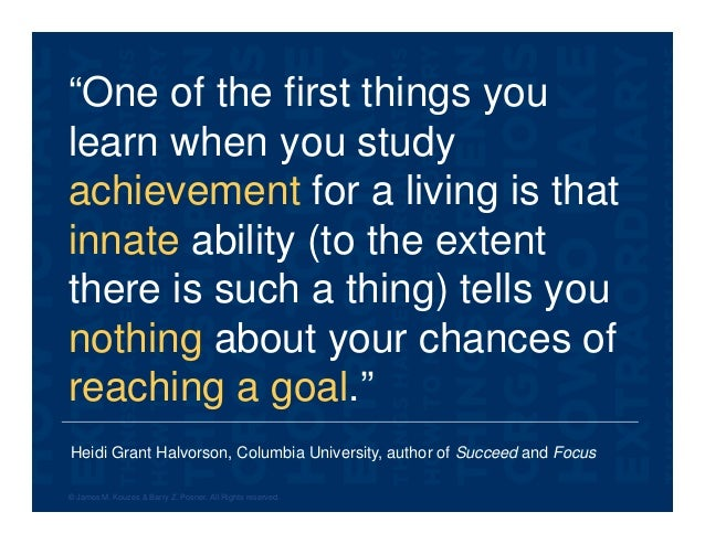 """Heidi Grant Halvorson, Columbia University, author of Succeed and Focus """"One of the first things you learn when you study ..."""