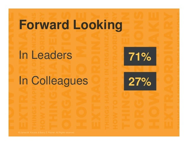 Forward Looking © James M. Kouzes & Barry Z. Posner. All Rights reserved. In Leaders In Colleagues 71% 27%