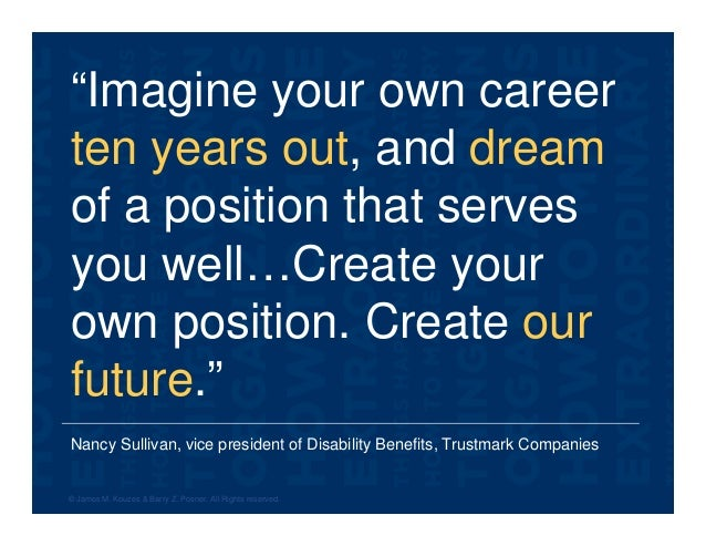 """Nancy Sullivan, vice president of Disability Benefits, Trustmark Companies """"Imagine your own career ten years out, and dre..."""