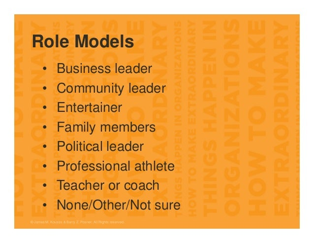 Role Models • Business leader • Community leader • Entertainer • Family members • Political leader • Professional athlete ...