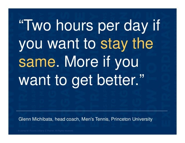 """Glenn Michibata, head coach, Men's Tennis, Princeton University """"Two hours per day if you want to stay the same. More if y..."""