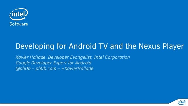 Getting your app on Android TV