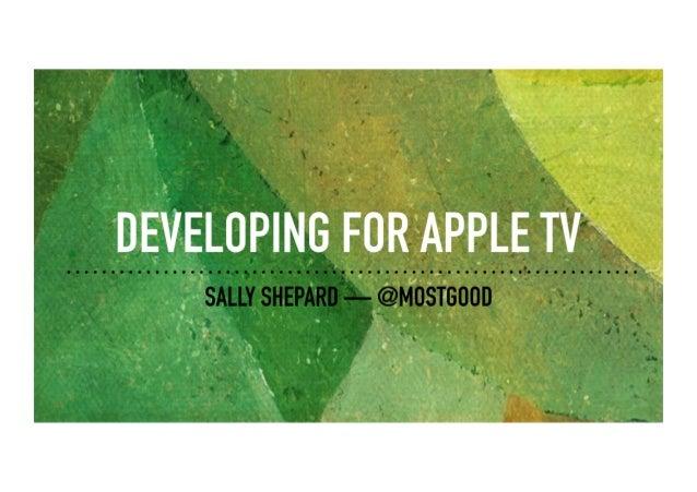 Developing for Apple TV