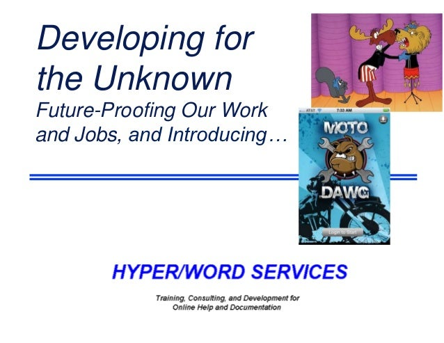 Developing forthe UnknownFuture-Proofing Our Workand Jobs, and Introducing…