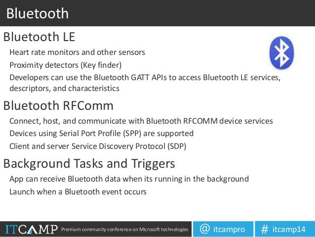 Developing for windows phone 8 1 - Bluetooth low energy serial port profile ...