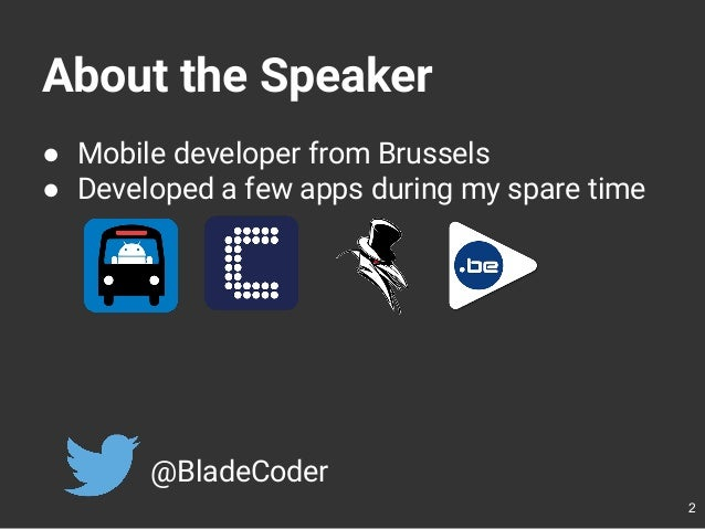 Developing FOSDEM Companion Slide 2