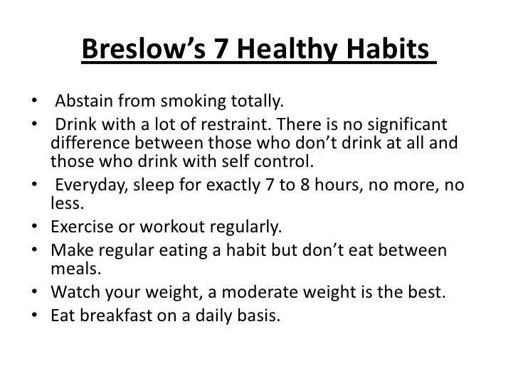 daily healthy habits