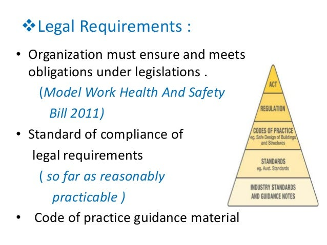 """recommendations on whs management system 42 eqs management system documentation requirements   """"as4801:2001 –  occupational health and safety management systems -."""