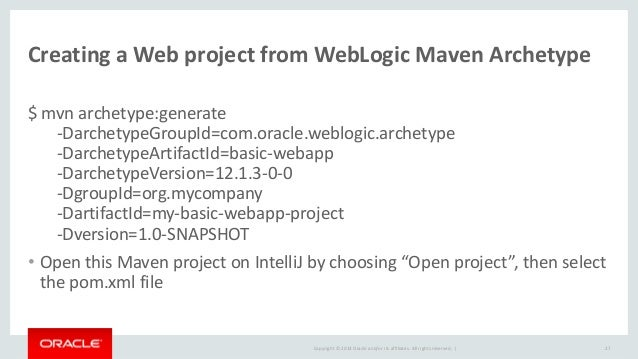 Developing java ee applications on intellij idea with oracle weblogic oraclehomedwls12130 26 26 ccuart Gallery