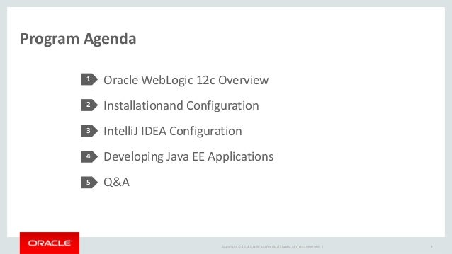 Developing Java EE Applications on IntelliJ IDEA with Oracle WebLogic…