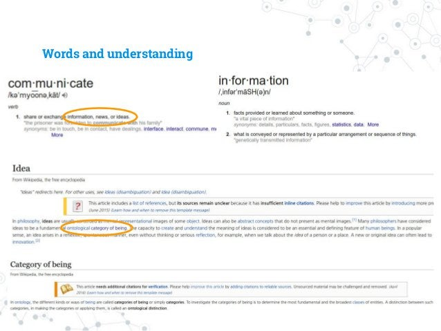 Words and understanding ◎ We use languages ○ To communicate ○ To successfully express information/idea ◉ Requires to repre...