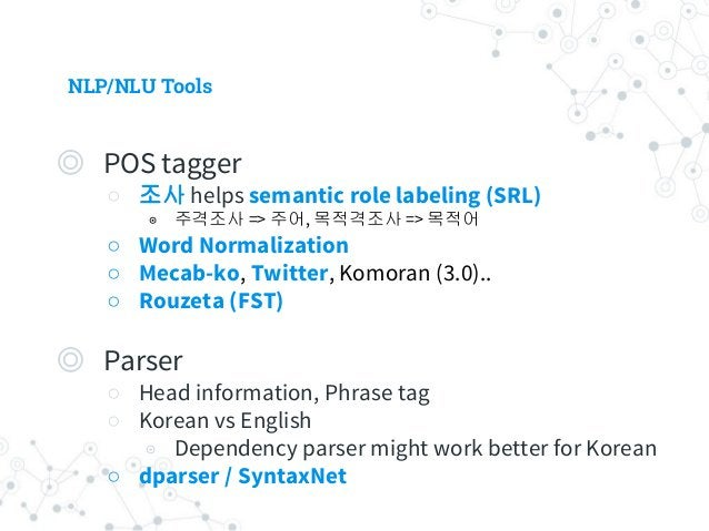 NLP/NLU Tools
