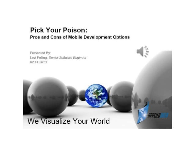 Developing mobile apps   pick your poison - levi felling