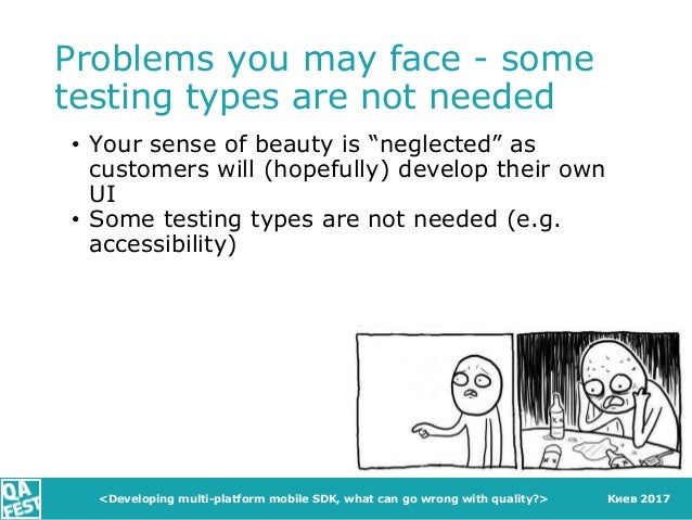 """Киев 2017 Problems you may face - some testing types are not needed • Your sense of beauty is """"neglected"""" as customers wil..."""