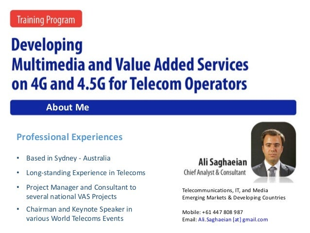• Long-standing Experience in Telecoms • Chairman and Keynote Speaker in various World Telecoms Events • Project Manager a...