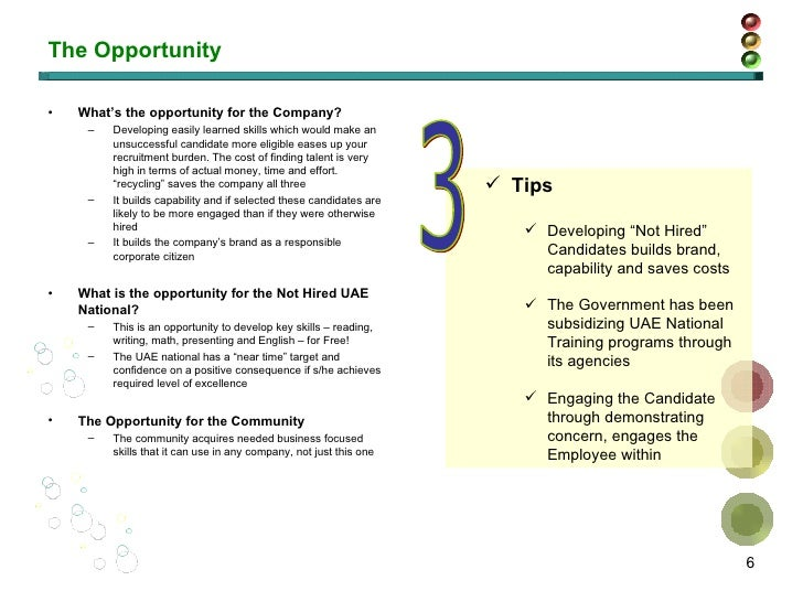The Opportunity <ul><li>What's the opportunity for the Company? </li></ul><ul><ul><li>Developing easily learned skills whi...