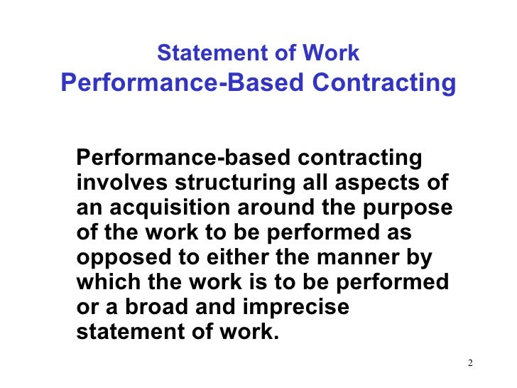 Developing performance based_work_statements